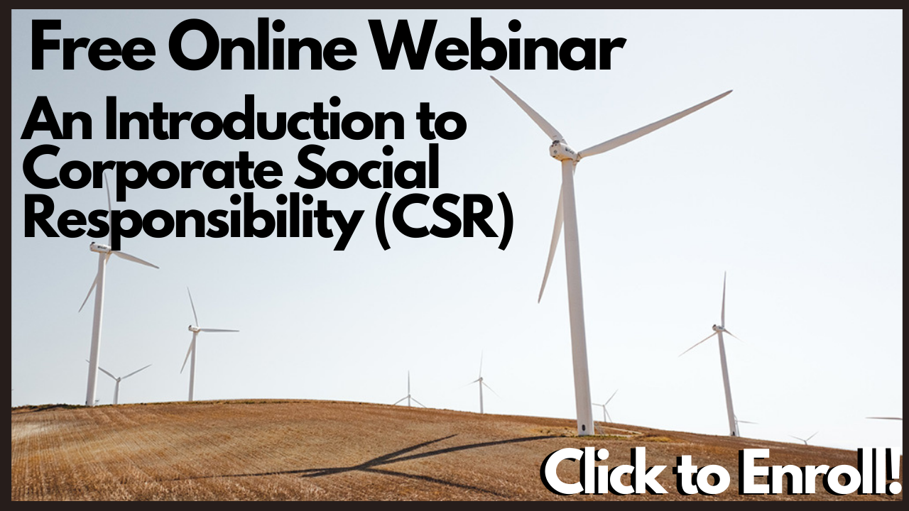 An Introduction to Corporate Social Responsibility